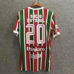 Wholesale Custom H - Perfect 17 18 Fluminense full sponsor universal soccer jerseys football shirts top quality soccer custom name number H. DOURADO 9 G. SCARPA