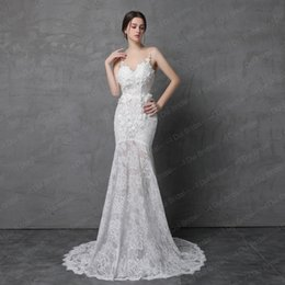 Wholesale Backless Dress Detachable Train - Shinny Sparkle Wedding Dress with Detachable Train Illusion Fashion 2018 Real Photo New Style Delicate Handmade Flower