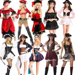Wholesale Caribbean Performance Costumes - Halloween costume drama stage outfit many pirates of the Caribbean role playing performance clothing wholesale marvel select