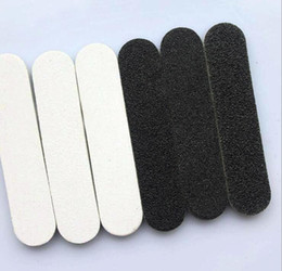 Wholesale Mini Black Board - 100 Pcs Black White Shortie Mini Emery Board Professional Eva Nail File Nail Salon Files Nail Art Tool Free Shipping