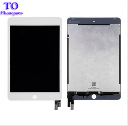 Wholesale Ipad Mini Lcd Screen Replacement - New 100% Tested LCD Display Touch Screen Assembly Replacement For iPad Mini 4 A1538 A1550 Black White Free Shipping