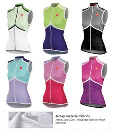 Wholesale Sleeveless Cycling Tops - Hot new 2015 women summer Cycling Clothing Sleeveless jersey vest cycling sportswear bike sleeveless shirts Cycling jersey maillot Ciclismo