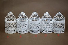 Jaula de metal vela online-Fashion Hot Bird Cage Decoración Candelabros Bird Cage Boda Candelabro