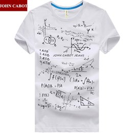 Wholesale Formula Brands - Wholesale-Free Shipping Brand JOHN CABOT Summer M-5XL mens t shirt Short Sleeve O Neck Print Mathematical Formula Plus Size Males Clothes