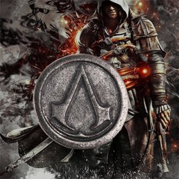 Wholesale Cosplay Asian - assassins creed brooch pin vintage retro game Ezio Deiss Mond cosplay jewelry for men and women wholesale ZJ-0903147y