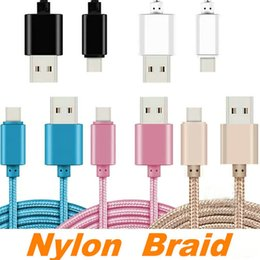 cell phone charger types Coupons - High Quality Cell Phone Cables For Samsung LG 1M 2M 3M 3FT 6FT 10FT Metal Housing Braided Micro USB Cable High Speed Data Sync USB Charger