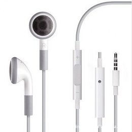 Wholesale Iphone Earphones Best Quality - New arrival best quality white Earphone with Mic For apple iPhone 6 6plus 5S 5 5C 4 4S 3GS wholesale