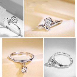 Wholesale Zodiac Rings - Fashion new arrival 12 constellations Zodiac Finger Rings 925 Sterling Silver Adjustable size Women's Rings jewelry E339L