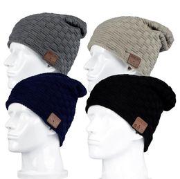 Wholesale Smart Casual Men Winter - New Fashion Beanie Hat Cap Wireless Bluetooth Earphone Smart Headset Speaker Mic Winter Outdoor Sport Stereo Music Hat