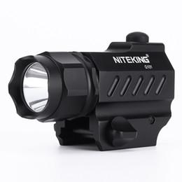 Wholesale hiking cold weather - NITEKING G101 LED Tactical Flashlight 2-Mode 600LM Pistol Handgun Torch Light Weather-proof Handheld Flashlights