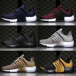 Wholesale Cheap Synthetic Weave - discount Cheap Air Presto due to sub woven shoes,2017 breathable mesh Sports Running Shoes,mens Casual Sock Gym Jogging Boost