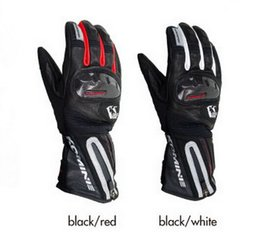 Wholesale Warm Long Gloves - 2016 New KOMINE GK-795 long style Cross-country motorcycle gloves windproof knight riding glove and keep warm in winter black red white
