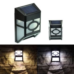 Wholesale Led Outside - Solar Powered Wall Lamp Outdoor Wall Light Continential LED Light Garden Yard Light High Brightness Lights Outside Landscape Lamp Waterproof