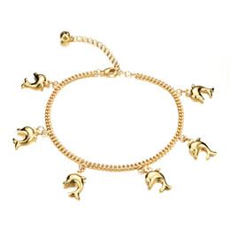 Lindas pulseras de tobillo online-Pulsera linda de la joyería del tobillo de la vendimia de las mujeres del color del oro de la manera de las tobilleras colgantes lindas de la mujer 1. ENVÍO MUNDIAL. (Excepto algunos países