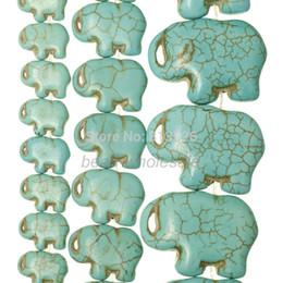 Wholesale Howlite Turquoise Flat Beads - Wholesale-OMH wholesale Blue Howlite Turquoise Side Ways Flat Elephant Loose Beads 16'' Strand