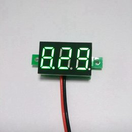 Wholesale Motorcycle Battery Voltage Monitor - 5 PCS LOT Car Motorcycle Battery Monitor DC 2.7-30V 2 Wire Green LED Digital Motor Voltmeter DC Voltage Volt Panel Meter Gauge