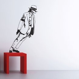 Wholesale Modern Dancing - Best Selling 2015 Dancing Michael Jackson Wall Stickers Removable Vinyl wall Decor Wall decals Art Poster DIY Home Decor