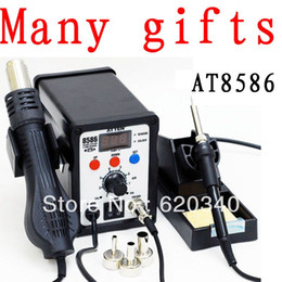 Wholesale Atten Rework - Free shipping ATTEN AT8586 2 in 1 Hot Air Soldering Station SMD Hot air rework station Digital Display order<$18no track