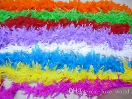 Wholesale Turkey Feather Boa Scarf - Popular Party Decoration Turkey feather boa scarf Fire chicken-feather wedding decoration turkey feather boa many colors for choose
