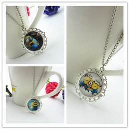 Wholesale Despicable Charms - 2015 NEW HOT Despicable Me silver Pendant Necklaces snow flower necklace Fashion Jewelry best quality free ship