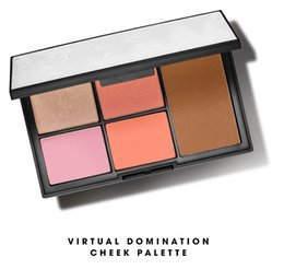 Wholesale Blush Bronzer Palette - Virtual Domination Cheek Palette Laguna Bronzer Deep Throat Blush Highlighting Blush Powders 4 Blushers 1 Bronzer XMAS 2016 DHL Ship