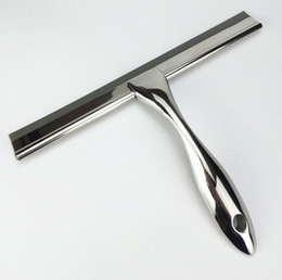 Wholesale Glass Window Squeegee - free shipping 202 stainless steel glass cleaner glass scratch Wiper Squeegees Household Cleaning