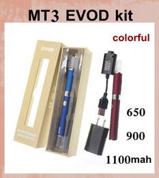 Wholesale Metal Pipe Ego - ecigator ecig wholesale e-cig starter kit evod mt3 vaporizer with ego 510 thread mt3 evod e pipe atomizer gift box vape starter kit LH008
