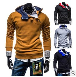 Wholesale Mens Sports Winter Clothes - Fall-Winter fashion Men sport coat Mens casual good Jacket Coat Men Clothes Cardigan Style Jacket Free Shipping 4 Colors Size M-XXXL