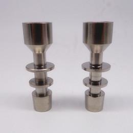 unha universal de titânio dab Desconto (Fábrica de vender diretamente) universal titanium domeless prego 14mm / 18mm macho grau 2 gr2 titanium prego se encaixa 14mm 18mm cera dab mel pente cúpula