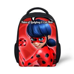 Estampados de mariquita online-Forudesigns 2017 más nuevas mochilas para niños mochila escolar mochila de bebé mariquita de impresión mochila niñas mochila
