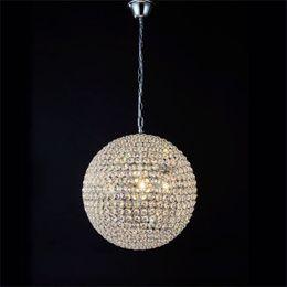 Wholesale E27 Led Crystal Ball - LED Crystal Ball Lighting Crystal Pendant Lights Minimalist Living room bedroom dining room hallway Lighting K9 Crystal Ball Pendant Lamp