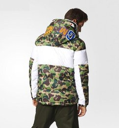 Wholesale Dressing Jacket - Europe and the United States selling SUP clover ape shark camouflage down jacket male personality thickened jacket