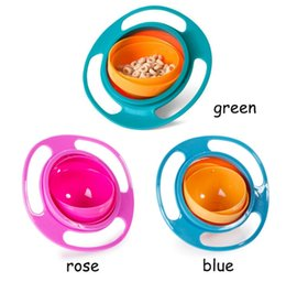 Wholesale Gyro Bowls - 360 Rotating Kid-Proof Non Spill Feeding Toddler Gyro Bowl With Lid Avoid Food Spilling Children Creation Bowl As Feeding Supplies