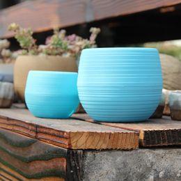 2019 vasetti da giardino in ceramica all'ingrosso Mini vasi da fiori colorati Piantare vaso da giardinaggio Vasi di plastica Fioriera per piante Decorazione per ufficio Forniture da giardino 10 * 10cm DHL libero-XL-335