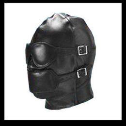 Wholesale Sex Pvc - New Bondage PVC Gimp Mask Hood Blindfold Fetish Bondage Sex Headgear Leather Hoods, SM001
