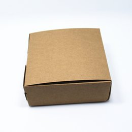 """Wholesale Kraft Packing Boxes - Wholesale- 10Pcs  Lot Brown 12*12*4.5cm Kraft Paper Collapsible Event Gifts Pack Box For Small Objects 4.72""""x4.72""""x1.77"""" Packaging Boxes"""