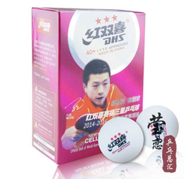Wholesale Dhs Ball Star - Wholesale- original DHS 40+ New Material CELL FREE Seamed 3 Star DHS Table Tennis Balls Professional White PingPong Balls ITTF Approved