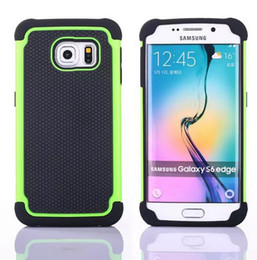 Wholesale S3 Mini Rubber - Hybrid TPU Hard Case For Samsung Galaxy S6 SVI Edge S5 S4 S3 Mini Football Shockproof Rugged Rubber Silicone Armor Army phone Bag Skin Cover