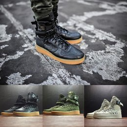 Wholesale Low Flat Boots Women - (With Box) 2018 Special Field SF For Forcing forces Men Women High Boots Running Shoes Sneakers Unveils Utility Boots Armed Classic Shoes