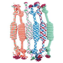 Wholesale Cotton Rope For Sale - Hot sale Pet Toys for dog funny Chew Knot Cotton Bone Rope Puppy Dog toy Pets dogs pet supplies for small dogs for puppys *30