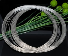 Wholesale Stainless Steel Memory Wire - 2015 New 100 Loops Memory Beading Wire for Necklace 140mm