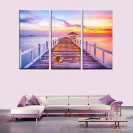 Wholesale Large Sunset Canvas - LARGE WALL PICTURE BEAUTIFUL SUNSET SEASCAPE HUGE LARGE WALL ART POSTER PICTURE PRINT HOME DECOR WALL ART PAINTING