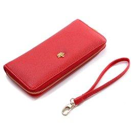 Wholesale Crown Zip - Lady Wallets Long Zip Purse Crown Brand 6 Colors Quality PU Leather Women Wallet HandBag Car Holders Zipper Clutch Popular Hot