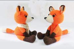 Wholesale Baby Shower Stuff - Fox Amigurumi fox Crochet Knitted Stuffed animals wild animals doll toy baby shower rattle gift