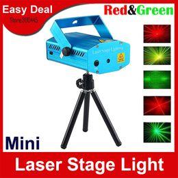 Dj iluminação tripé on-line-150 MW Mini Verde Vermelho Laser Stage Light Projetor Com Tripé Moving Party DJ Disco Luz Frete Grátis