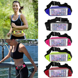 "Wholesale Mobile Phone Belt Holders - 4.8"" 5.9"" Sport Waist Bag Waterproof Running Fitness Running Belt Pouch Case Mobile Phone Holder for iPhone 5 5S 6 6plus Samsung"