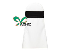 Wholesale Black Polyester Banquet Chair Covers - Black Color Spandex Lycra Chair Band For Spandex Chair Cover