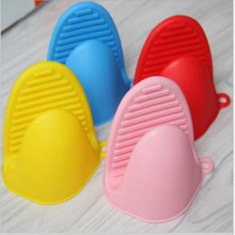 Wholesale Oven Clip - Non Slip Silicone Glove High Temperature Resistant Microwave Oven Gloves Anti Scald Silica Gel Clip Hot Sale 1 65ww B R