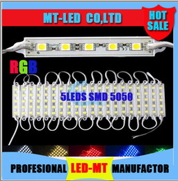 Wholesale Channel Dc - 2015 newest High Brightness 6 Colors Choose or RGB Led Pixel Modules 5 Leds 5050 SMD Led Modules Waterproof DC 12V for Channel Letters