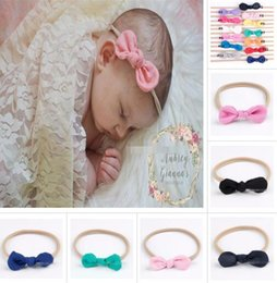 Wholesale Cute Headbands For Babies - Newborn Baby Headbands Bunny Ear Elastic Headband Children Hair Accessories Kids Cute Hairbands for Girls Nylon Bow Headwear Headdress